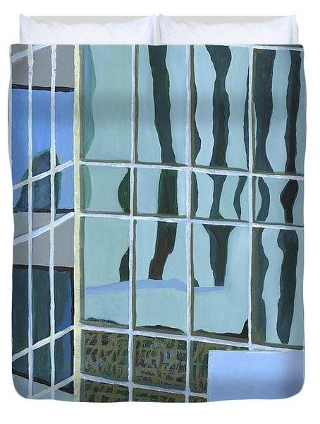 Downtown Reflections Duvet Cover by Alika Kumar