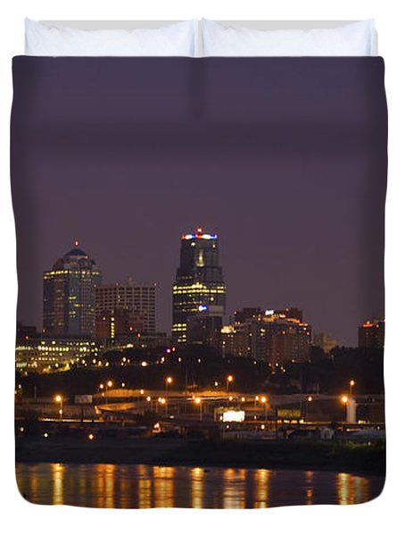 Downtown Reflections Duvet Cover