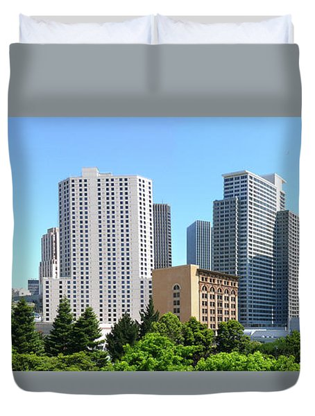 Duvet Cover featuring the photograph Downtown San Fransisco by Mike McGlothlen