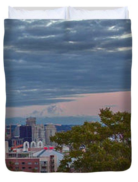 Downtown Seattle At Dusk Duvet Cover