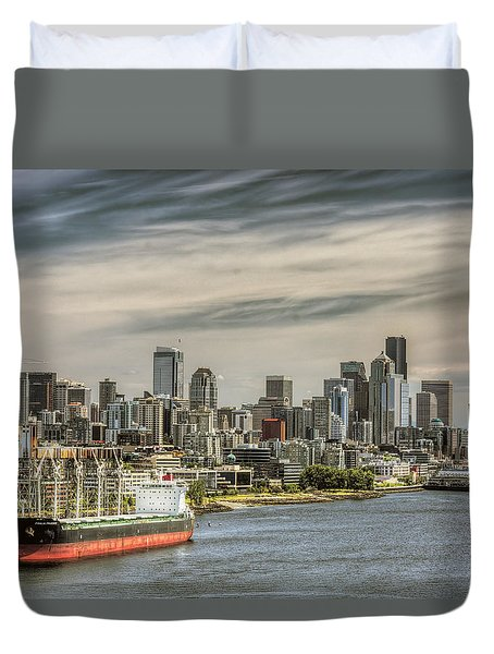 Downtown Seattle Duvet Cover