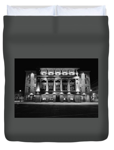 Downtown Square Duvet Cover