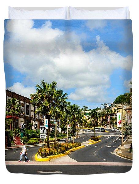 Downtown Tamuning Guam Duvet Cover