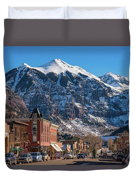 Downtown Telluride Duvet Cover