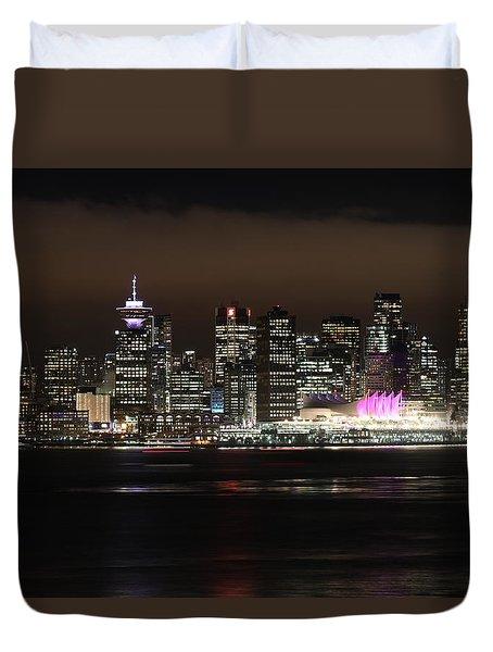 Downtown Vancouver Duvet Cover