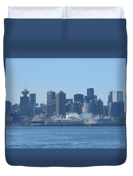 Downtown View From North Vancouver Duvet Cover