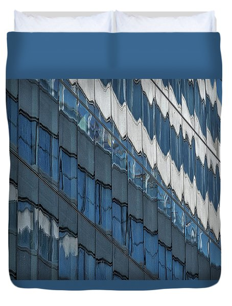 Duvet Cover featuring the photograph Downtown Window Reflections #2 - Washington by Stuart Litoff