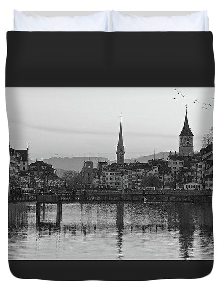 Downtown Zurich Duvet Cover