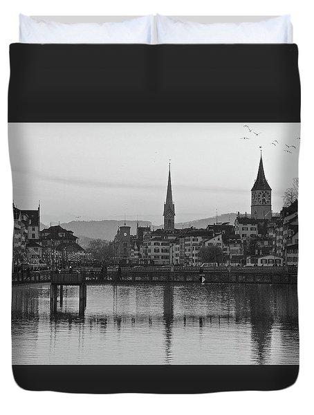 Downtown Zurich Duvet Cover by Matt MacMillan