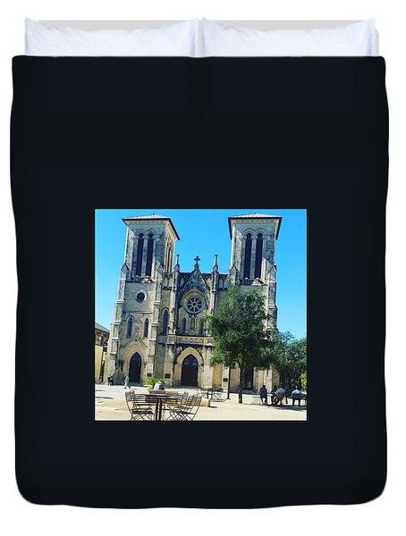Cathedral Of San Fernando Duvet Cover by Danielle Recoder