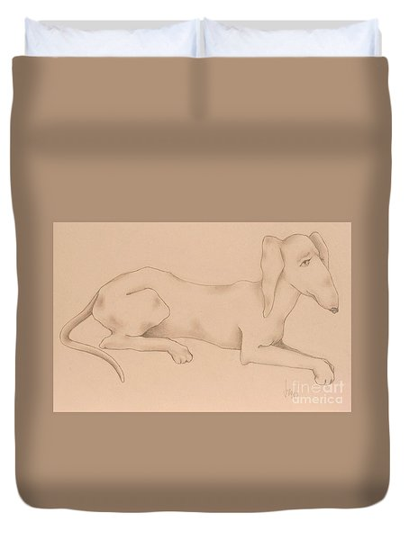 Doxies, Bad To The Bone Duvet Cover