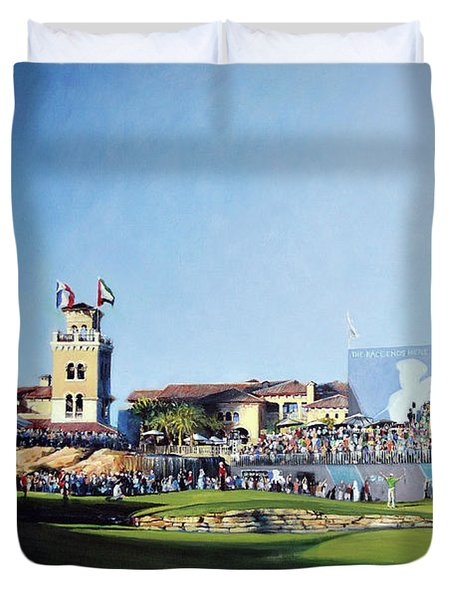 Dp World Tour Championship 2015 - Open Edition Duvet Cover by Mark Robinson