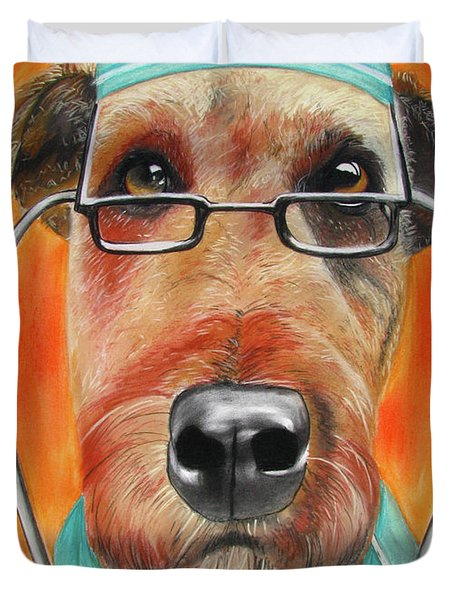 Dr. Dog Duvet Cover