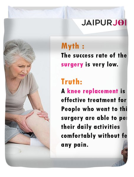 Dr. Lalit Modi Is Best Knee Replacement Surgeon In Jaipur. Duvet Cover