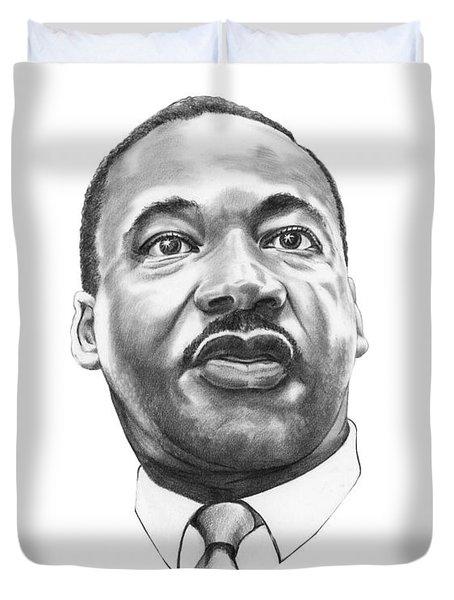 Dr. Martin Luther King Duvet Cover by Murphy Elliott