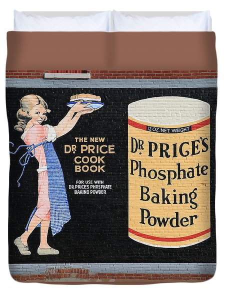 Dr. Prices Phosphate Baking Powder On Brick Duvet Cover
