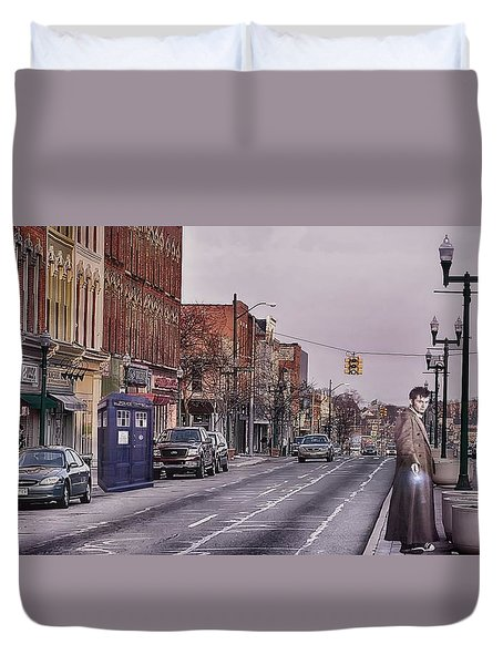 Dr Who In Ypsilanti Duvet Cover