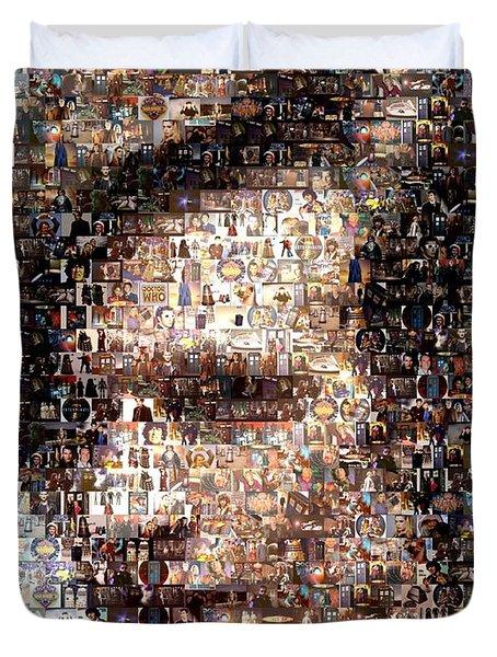 Dr. Who Mosaic Duvet Cover by Paul Van Scott