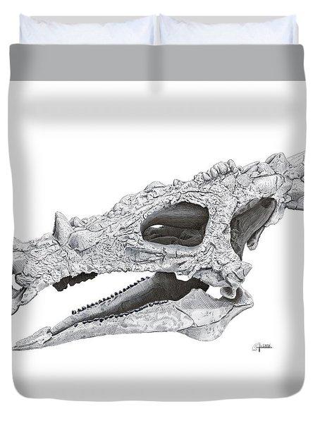 Dracorex Hogwartsia Skull Duvet Cover