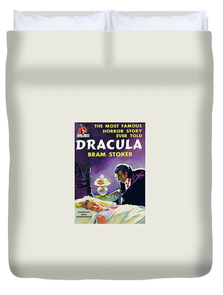Duvet Cover featuring the painting Dracula by Unknown Artist