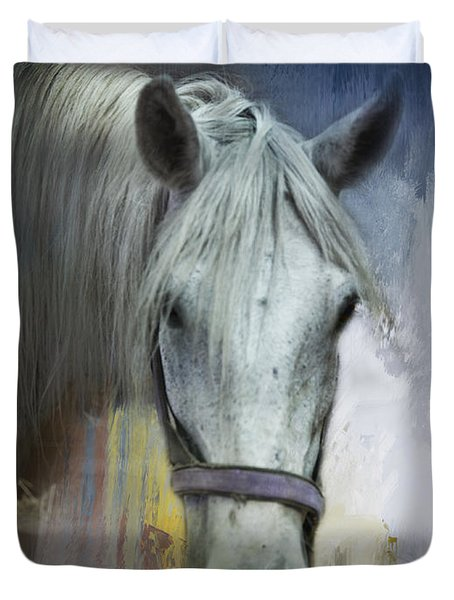 Draft Horse In Michigan Duvet Cover