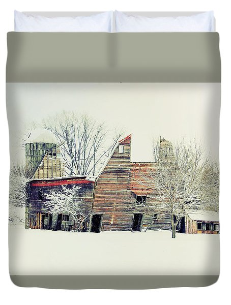 Drafty Old Barn Duvet Cover