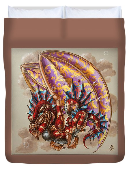 Dragon And A Ladybird Duvet Cover