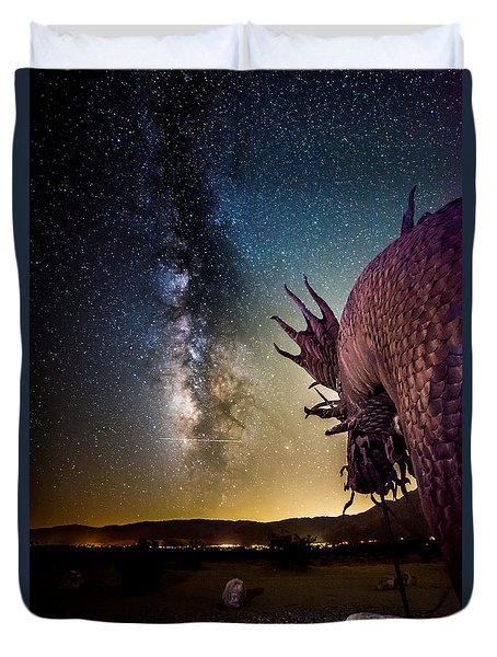 Dragon Attacks Borrego Springs Duvet Cover
