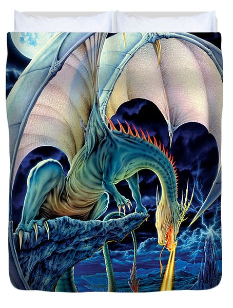 Dragon Causeway Duvet Cover by The Dragon Chronicles - Robin Ko