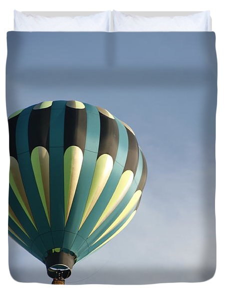 Duvet Cover featuring the digital art Dragon Cloud With Balloon by Gary Baird