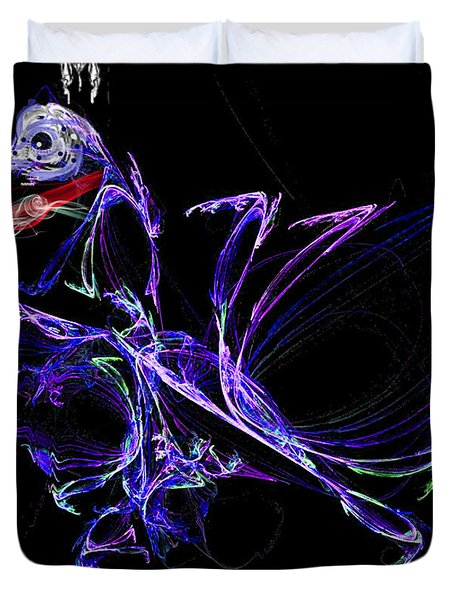 Duvet Cover featuring the digital art Dragon Dance by Ericamaxine Price