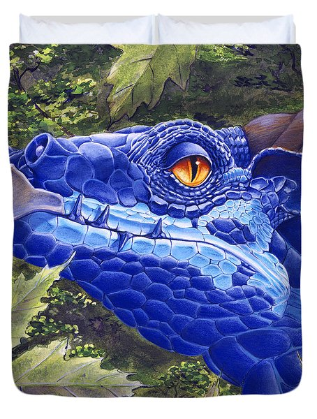 Dragon Eyes Duvet Cover by Melissa A Benson