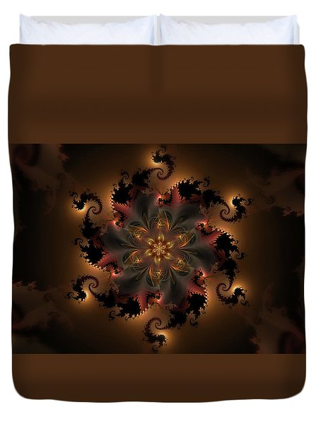Dragon Flower Duvet Cover by GJ Blackman