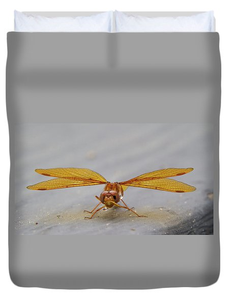 Dragon Fly Hanging Around Duvet Cover