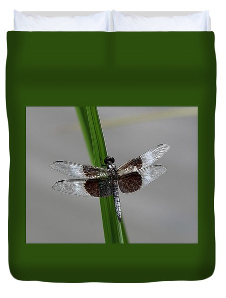 Duvet Cover featuring the photograph Dragon Fly by Jerry Battle