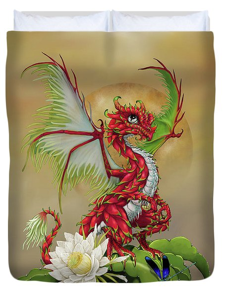 Duvet Cover featuring the digital art Dragon Fruit Dragon by Stanley Morrison