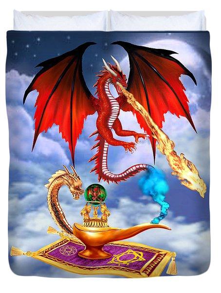 Dragon Genie Duvet Cover by Glenn Holbrook