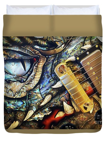 Dragon Guitar Prs Duvet Cover