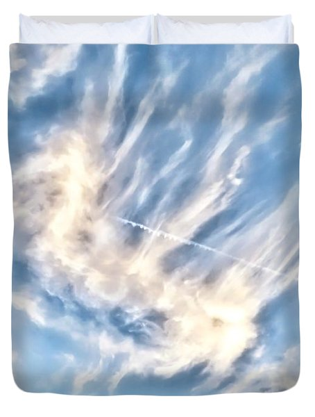 Dragon In The Flight Path Duvet Cover