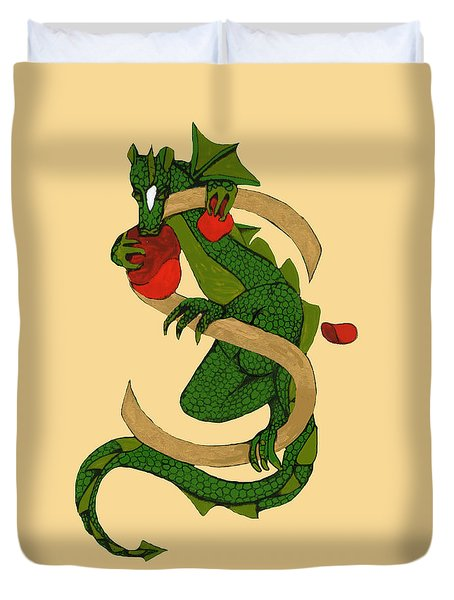 Dragon Letter S V2 Duvet Cover