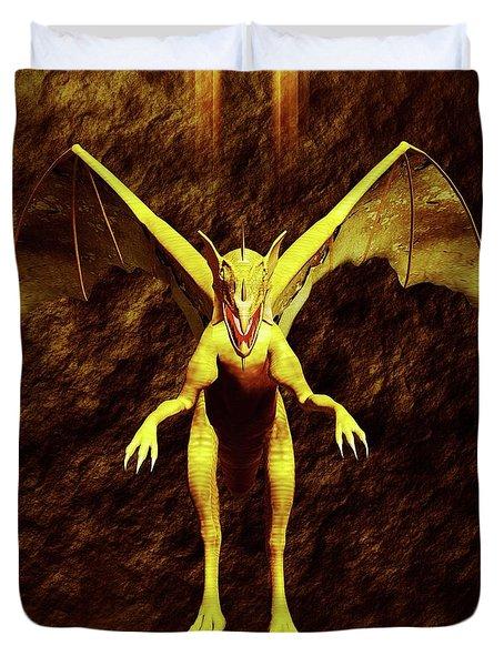 Dragon Lord By Sarah Kirk Duvet Cover