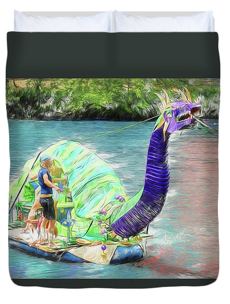 Dragon The Line Duvet Cover