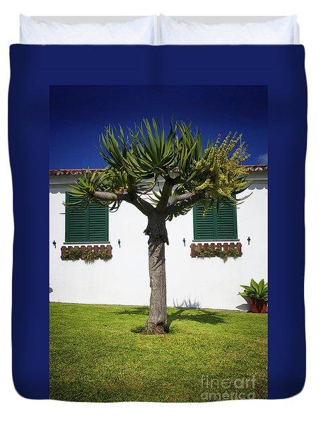 Dragon Tree Garden House Duvet Cover