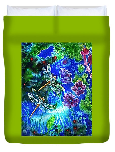 Dragonflies Duvet Cover by Hartmut Jager