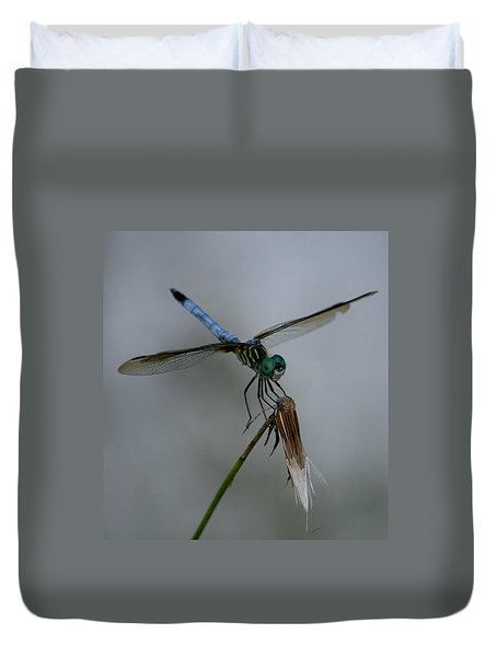 Duvet Cover featuring the photograph Dragonfly 2 by Cathy Harper