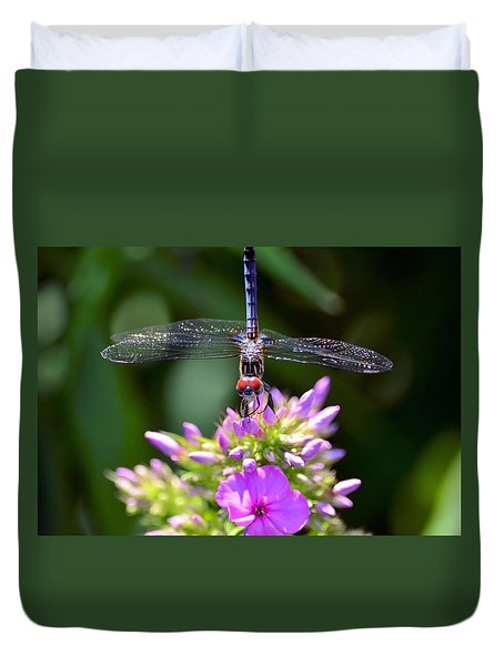 Dragonfly And Phlox Duvet Cover