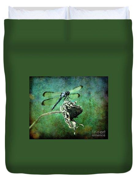 Dragonfly Art Duvet Cover by Sari Sauls