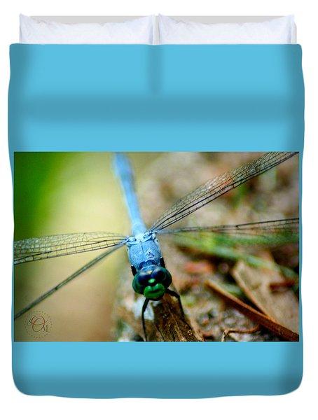 Dragonfly Closeup Duvet Cover
