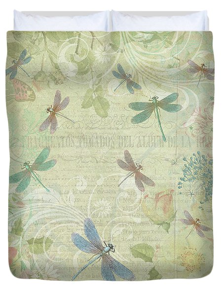 Dragonfly Dream Duvet Cover by Peggy Collins