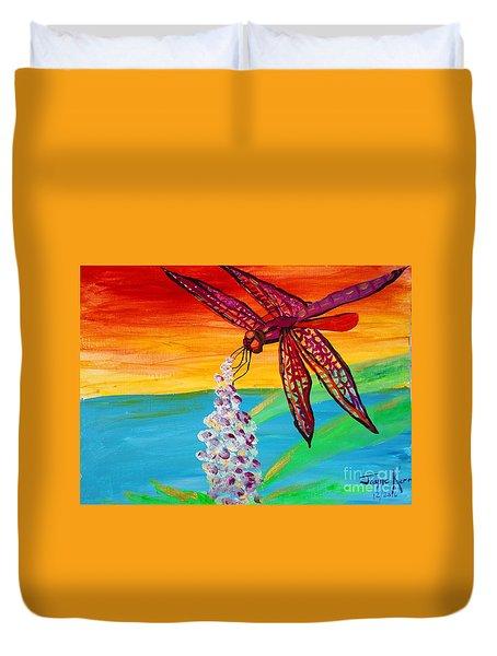 Dragonfly Ecstatic Duvet Cover